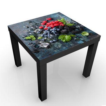 Tavolino design Berry Mix With Ice Cubes Wood