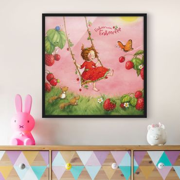 Poster con cornice - The Strawberry Fairy - Tree Swing - Quadrato 1:1