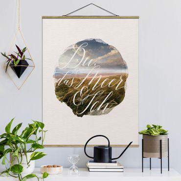Foto su tessuto da parete con bastone - Acquerelli - Si, The Sea & I - Verticale 4:3