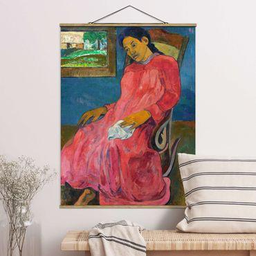 Foto su tessuto da parete con bastone - Paul Gauguin - Melancholic Tipo - Verticale 4:3