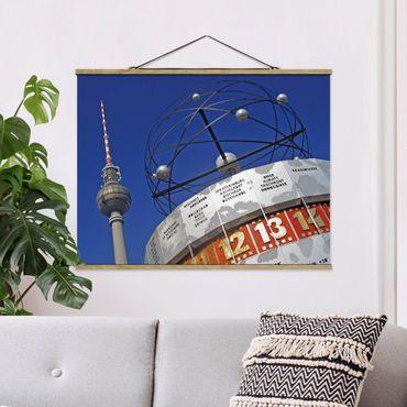 Foto su tessuto da parete con bastone - Berlin Alexanderplatz - Orizzontale 3:4