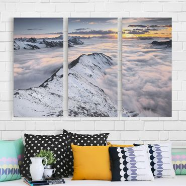 Stampa su tela 3 parti - View Of Clouds And Mountains - Verticale 2:1