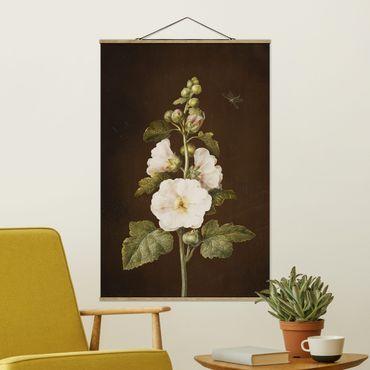 Foto su tessuto da parete con bastone - Barbara Regina Dietzsch - Hollyhock - Verticale 3:2