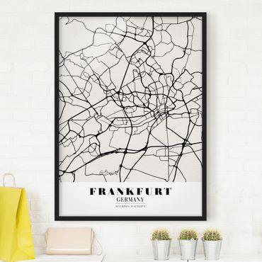 Poster con cornice - Frankfurt City City Map - Classic - Verticale 4:3