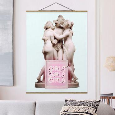 Foto su tessuto da parete con bastone - statua ragazze - Verticale 4:3
