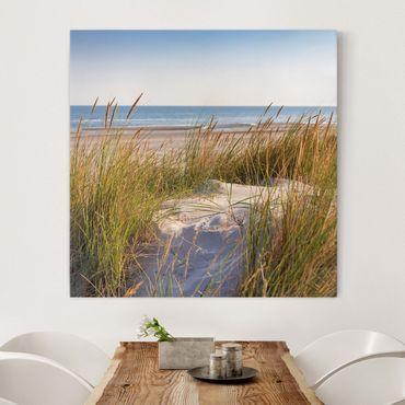 Stampa su tela - Beach Dune Al Mare - Quadrato 1:1