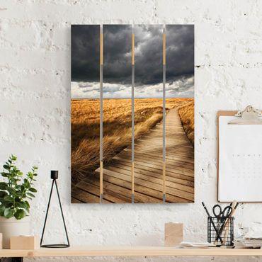 Stampa su legno - Way nelle dune - Verticale 3:2