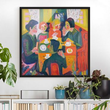 Poster con cornice - Ernst Ludwig Kirchner - Coffee Table - Quadrato 1:1