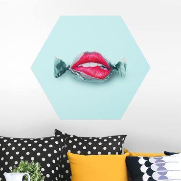 Esagono in Alu-dibond - Candy Con Labbra