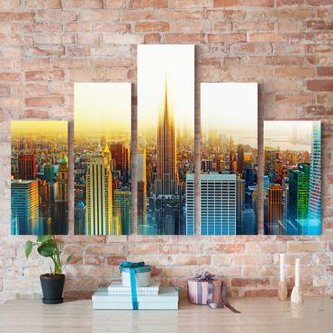 Stampa su tela 5 parti - Manhattan Abstract