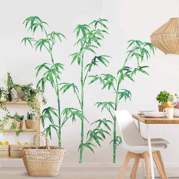 Adesivo murale - Acquerello Bamboo Tree Verde