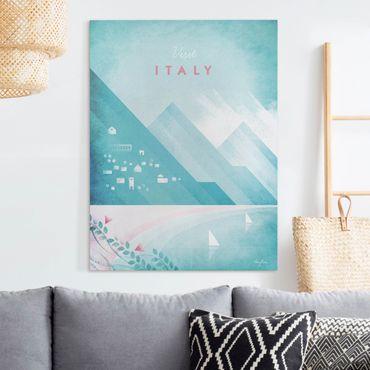 Stampa su tela - Poster di viaggio - Italia - Verticale 4:3