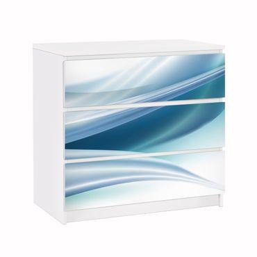 Carta adesiva per mobili IKEA - Malm Cassettiera 3xCassetti - Blue Dust