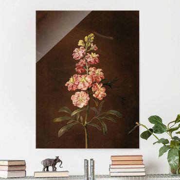 Quadro in vetro - Barbara Regina Dietzsch - Un Pink Garden Levkkoje - Verticale 4:3