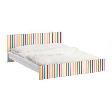 Carta adesiva per mobili IKEA - Malm Letto basso 160x200cm No.UL750 Stripes