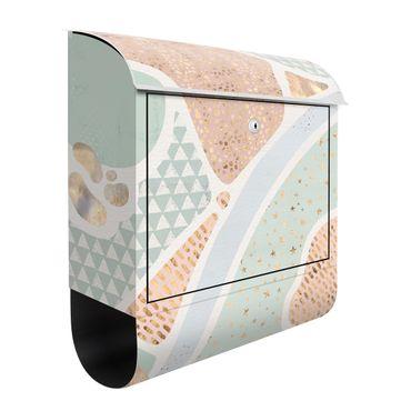 Cassetta postale - Laghi astratti in pastello