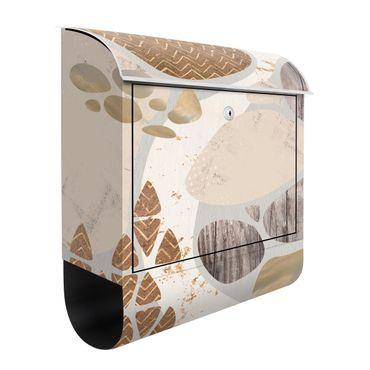 Cassetta postale - Muro di pietra astratto in pastello