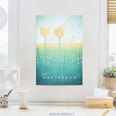 Quadro in vetro - Poster viaggio - Amsterdam - Verticale 3:2