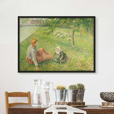 Poster con cornice - Camille Pissarro - Gooseherd - Orizzontale 3:4