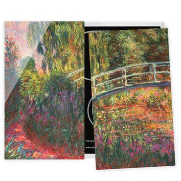 Coprifornelli in vetro - Claude Monet - Ponte giapponese di Giverny - 52x80cm