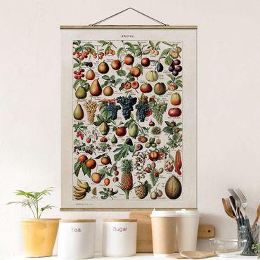 Foto su tessuto da parete con bastone - Frutta Consiglio d'epoca - Verticale 4:3