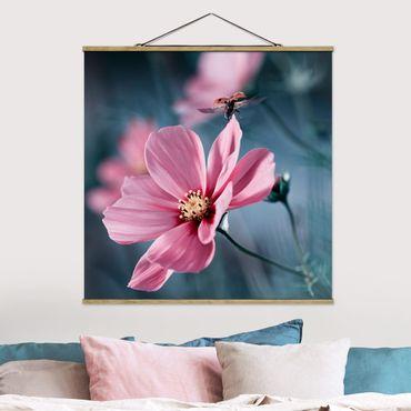 Foto su tessuto da parete con bastone - Coccinella Su di avvio - Quadrato 1:1