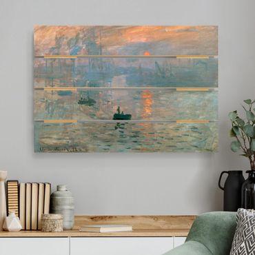 Stampa su legno - Claude Monet - Impressione - Orizzontale 2:3