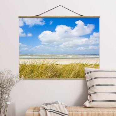 Foto su tessuto da parete con bastone - Sulla costa del Mare del Nord - Orizzontale 3:4