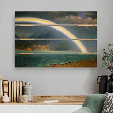 Stampa su legno - Albert Bierstadt - Rainbow Sopra Jenny Lake - Orizzontale 2:3