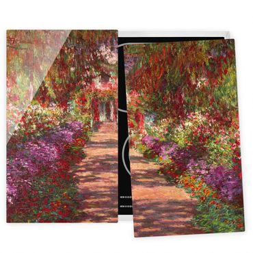 Coprifornelli in vetro - Claude Monet - Percorso nel giardino di Monet Giverny A - 52x80cm