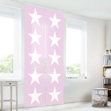 Tende scorrevoli set - Great White Stars On Pink