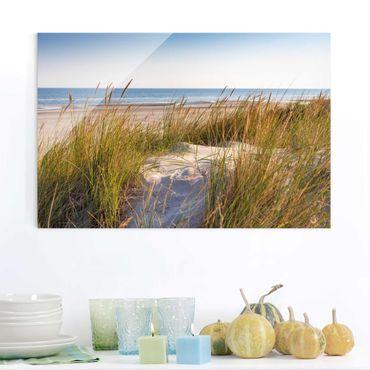 Quadro in vetro - Beach Dune Al Mare - Orizzontale 2:3