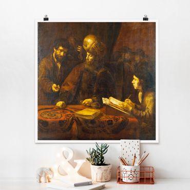 Poster - Rembrandt van Rijn - Parable Of Lavoratori - Quadrato 1:1