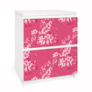 Carta adesiva per mobili IKEA - Malm Cassettiera 2xCassetti - Antique Flower Pattern
