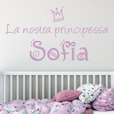 Adesivo murale No.494 La nostra Principessa - Con testo personalizzato