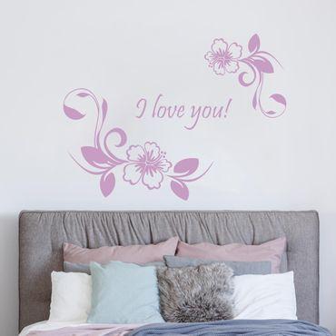 Adesivo murale No.CA10 Sogno di ibisco con testo personalizzato