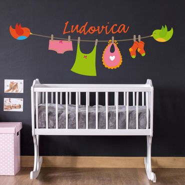 Adesivo murale No.EK135 Testo personalizzato per cameretta bambina