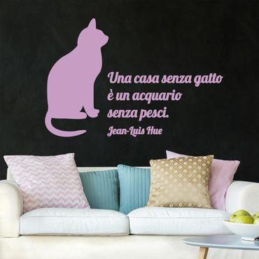 Adesivo murale No.NH88 Casa senza gatto