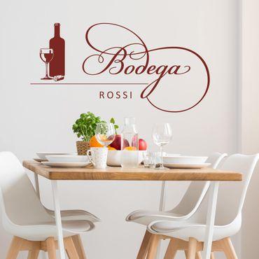 Adesivo murale No.SF908 Bodega Rossi - Con testo personalizzato