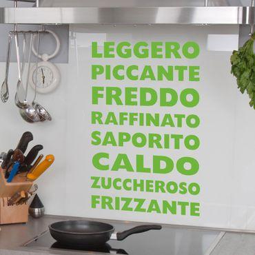 Adesivo murale No.UL405 Scritte per cucina