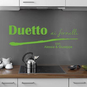 Adesivo murale No.UL597 Duetto - Con testo personalizzato