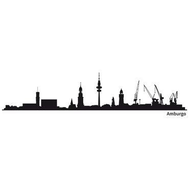 Adesivo murale Skyline Amburgo