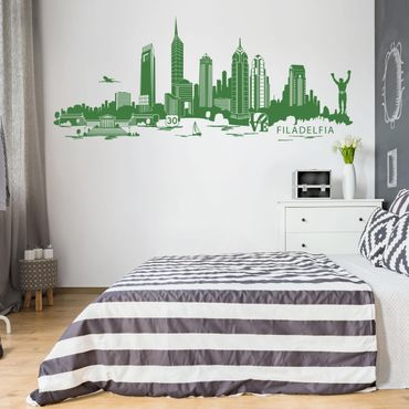 Adesivo murale Skyline Filadelfia
