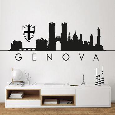Adesivo murale Skyline Genova