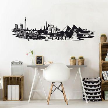 Adesivo murale Skyline Il Cairo