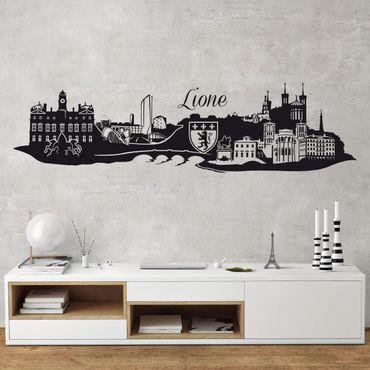 Adesivo murale Skyline Lione