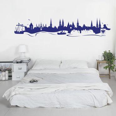 Adesivo murale Skyline Lubecca