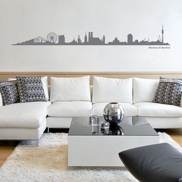 Adesivo murale Skyline Monaco di Baviera