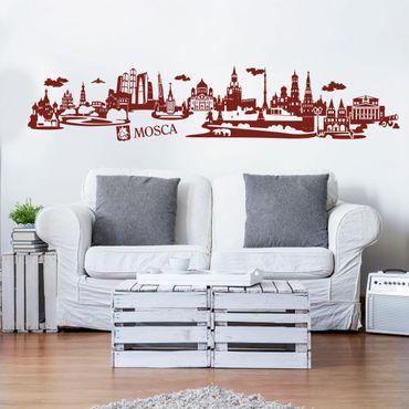 Adesivo murale Skyline Mosca