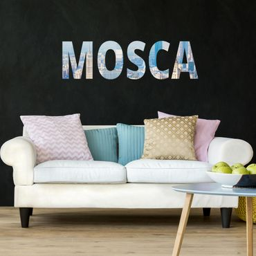 Adesivo murale Skyline Mosca lettere